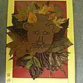 Notre activité du jour ... feuilles d'automne ... lion ...