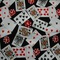 tissu import américain , casino..