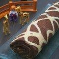 Gâteau roulé imprimé girafe