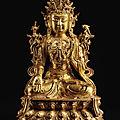 A large <b>gilt</b>-<b>lacquer</b> <b>bronze</b> <b>figure</b> of Avalokiteshvara, Ming dynasty, 15th-16th century