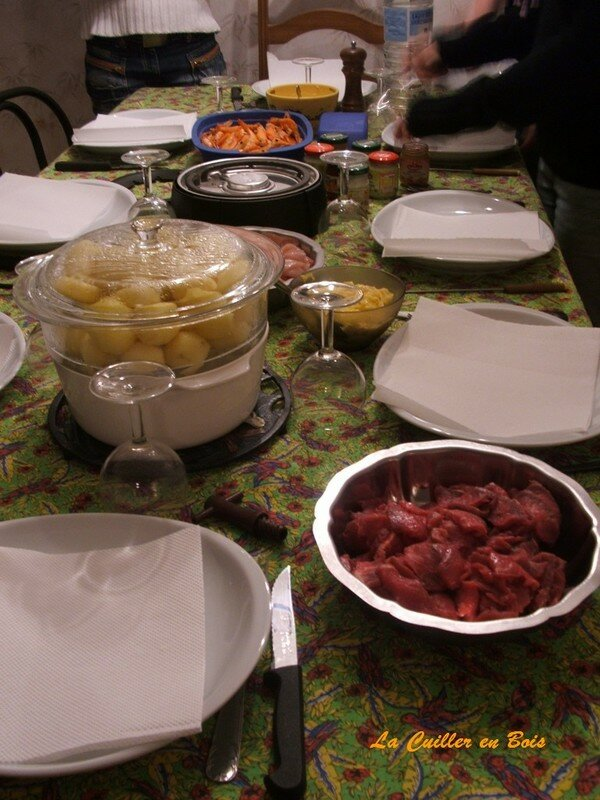 Soirée fondue chinoise chez ma soeur