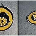 Pendentif noir et jaune