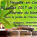 Journée du bien-être à neuville (neupré en belgique) ce 30 septembre 2017