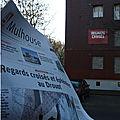 Quartier Drouot - La pleine page dans L'Alsace pour Regards croisés...