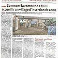 Chaponost a failli accueillir un village d'insertion de roms.