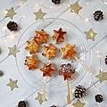 ...Idée dessert improvisé et gourmand avec des chutes de pâtes feuilletées maison : des étoiles chocolatées...