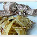 Rouelle de porc aux pommes de terre confites