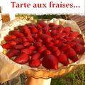 Tarte aux fraises...