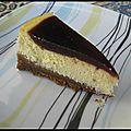 Cheesecake aux spéculoos et à la gelée de cerise