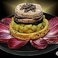 <b>Foie</b> <b>gras</b> de canard à la truffe et aux pommes caramélisées