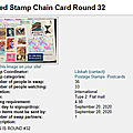 Je participe ! Swap-<b>bot</b> - Used Stamp Chain Card Round 32 (incoming)