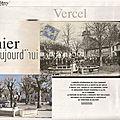 Rubrique ''D'hier à aujourd'hui'' dans Le Mag ER : Vercel (25)