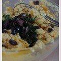 Bouchées soufflées à la courge butternut, au brocciu et aux olives de nyons, sans blé, sans lait de vache