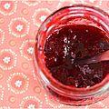 ..confiture aux trois fruits rouges à l'agar agar..