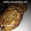 Cookies au caramel beurre salé