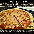 Pizza maison poulet moutarde