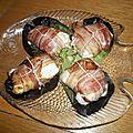 Filets de merlus en papillote de ventrêche farcis à la tomate confite