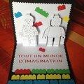 Carte kirigami lego