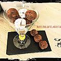 Truffes <b>crues</b> dattes, noix, <b>cacao</b> VEGAN ( 98 cal/ par truffe)
