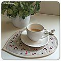 Tapis de tasse ou Coffeecup rugs