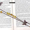 Collier rétro pendentif papillon cuivre perles en verre