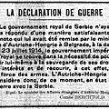 La chasse à la caille - la <b>déclaration</b> de <b>guerre</b> de l'Autriche-hongrie - Mme Cailaux est Acquittée.
