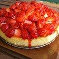 Cheesecake au chocolat blanc et aux fraises : pour une première, c'est plutôt réussi !