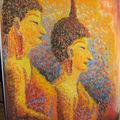 Mes Statues Thaï et le <b>Pointillisme</b>