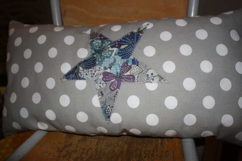 coussin pois liberty for Marie