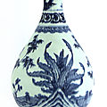A Chinese blue and white yuhuchun <b>vase</b>, 18th century