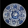 A Chinese Blue And White Porcelain Dutch Market <b>Armorial</b> <b>Charger</b>, Qing Dynasty, Kangxi Period (1662-1722)