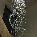 Lustre design à pampilles de cristal