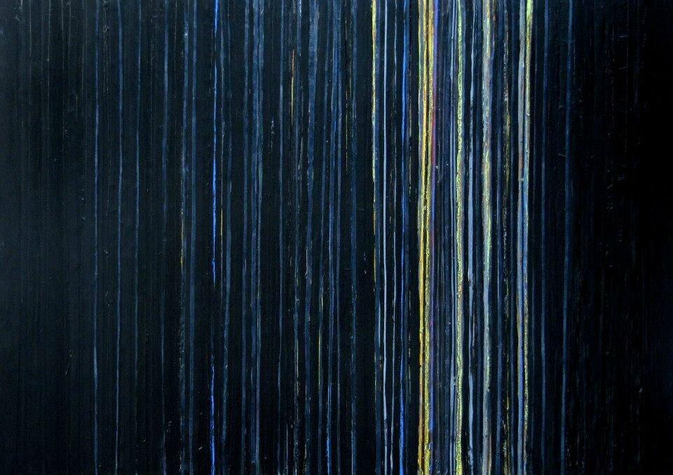 Forêt #25, 2011, acrylique sur bois, 130 x 80 cm