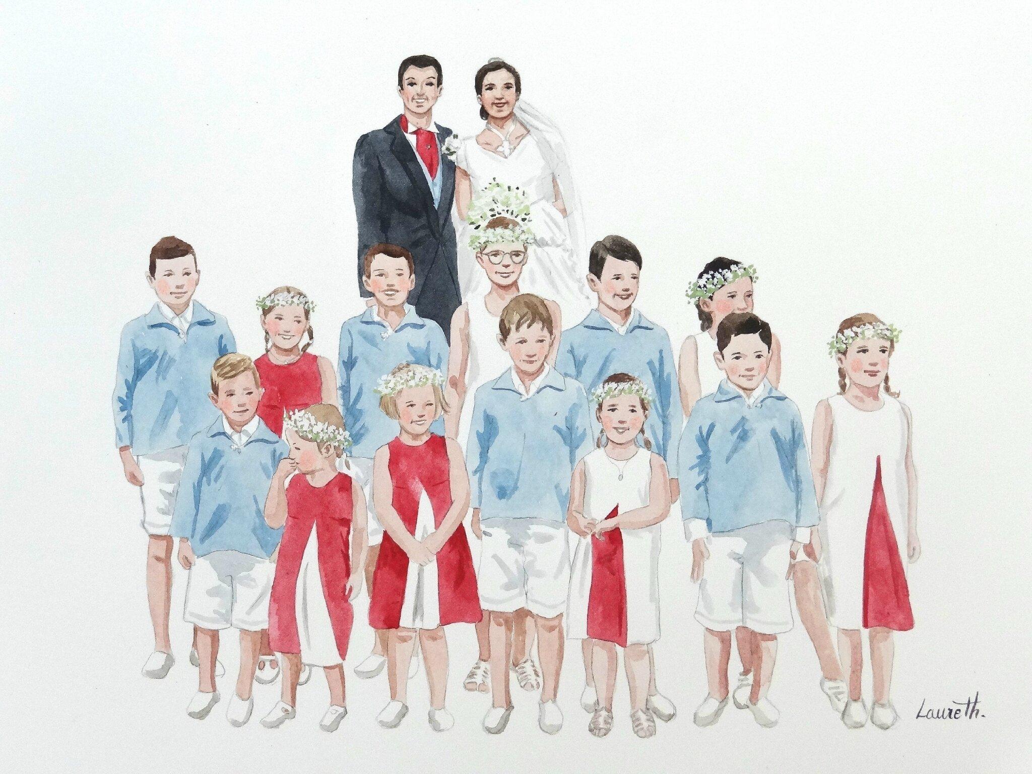 Cortège mariage Adrien et Anne