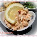 Saumon fumé + saumon mariné = rillettes aux 2 saumons