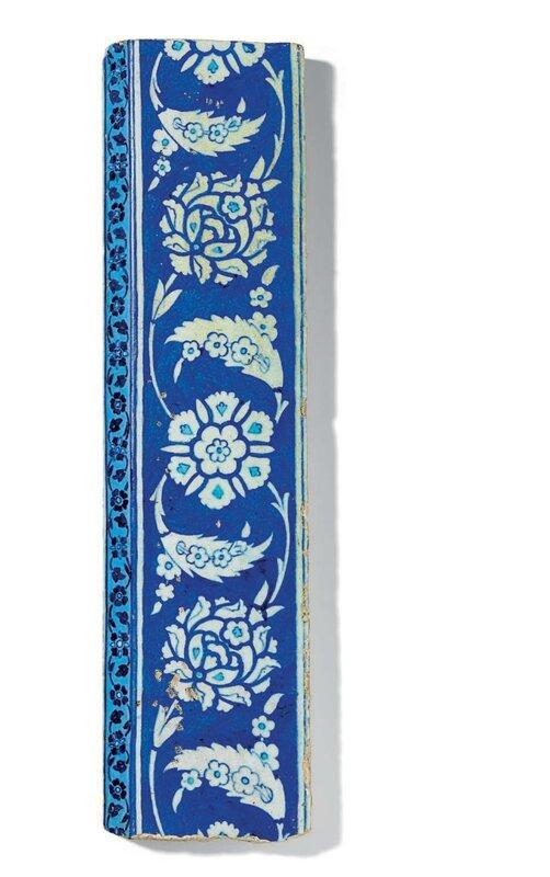 A Blue And White Hexagonal Iznik Tile Ottoman Turkey