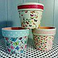 Trio de pots customisés