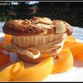Muffins aux amandes et aux abricots