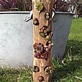 jardiniere totem buche recup lilybouticlou