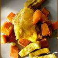 Tajine de poulet à la patate douce