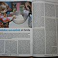 Mon article sur le végétarisme en famille pour grandir autrement n°43