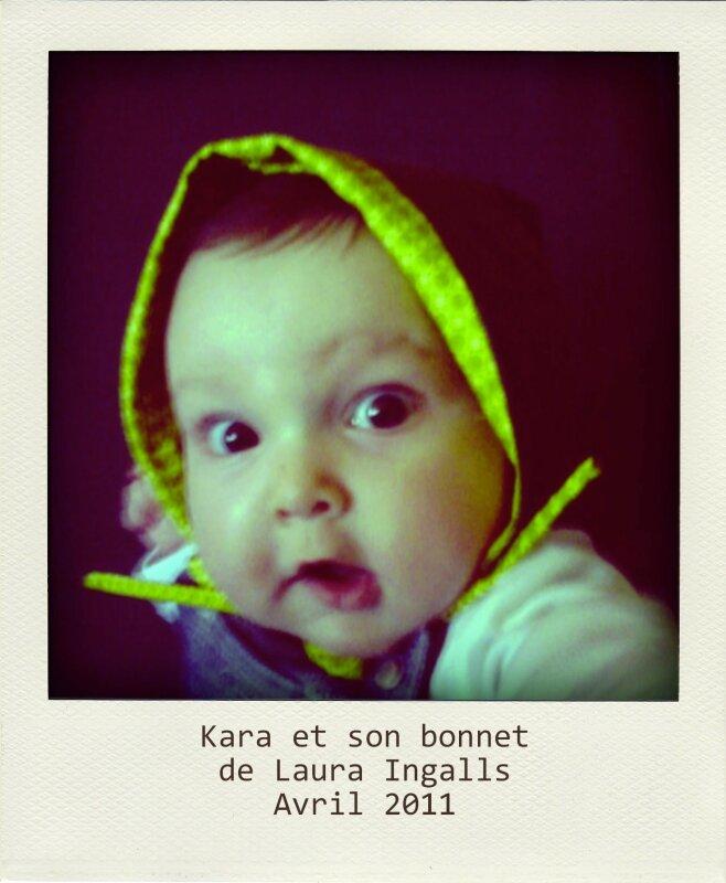 Kara et son bonnet de Laura ingalls