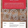 Des framelits couture et des tampons à moins 25% du 1er au 30 novembre