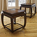 An outstanding and fine pair of zitan <b>square</b> <b>stools</b> with burlwood tops, 18th Century