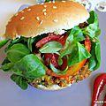 Steak végétarien végan, aux haricots rouges, pois chiche et épices