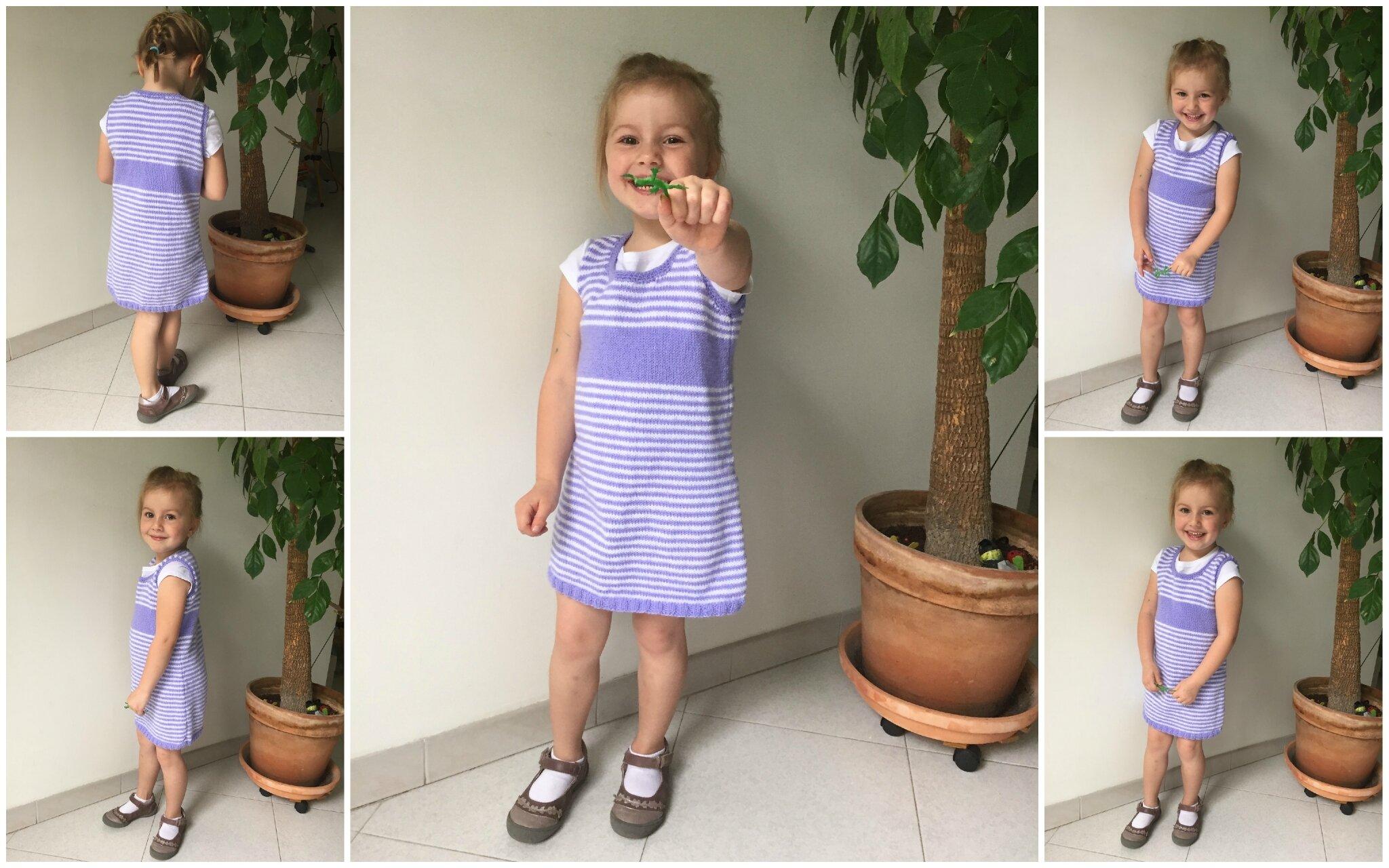 Petite robe rayée