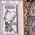 Carte brodée façon ancienne