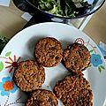 Galettes de quinoa aux légumes