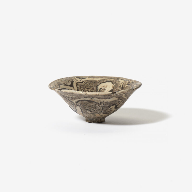 A Chinese marbled bowl, Song dynasty (960-1279)