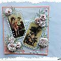 Sketchs, d'après une planche photo Vintage de Marianne Design et des pochoirs <b>Nelly</b> <b>Snellen</b>